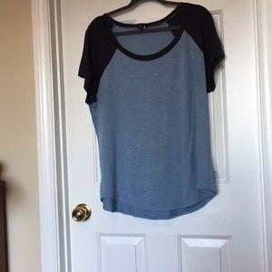 Short sleeve raglan tee light/dark blue